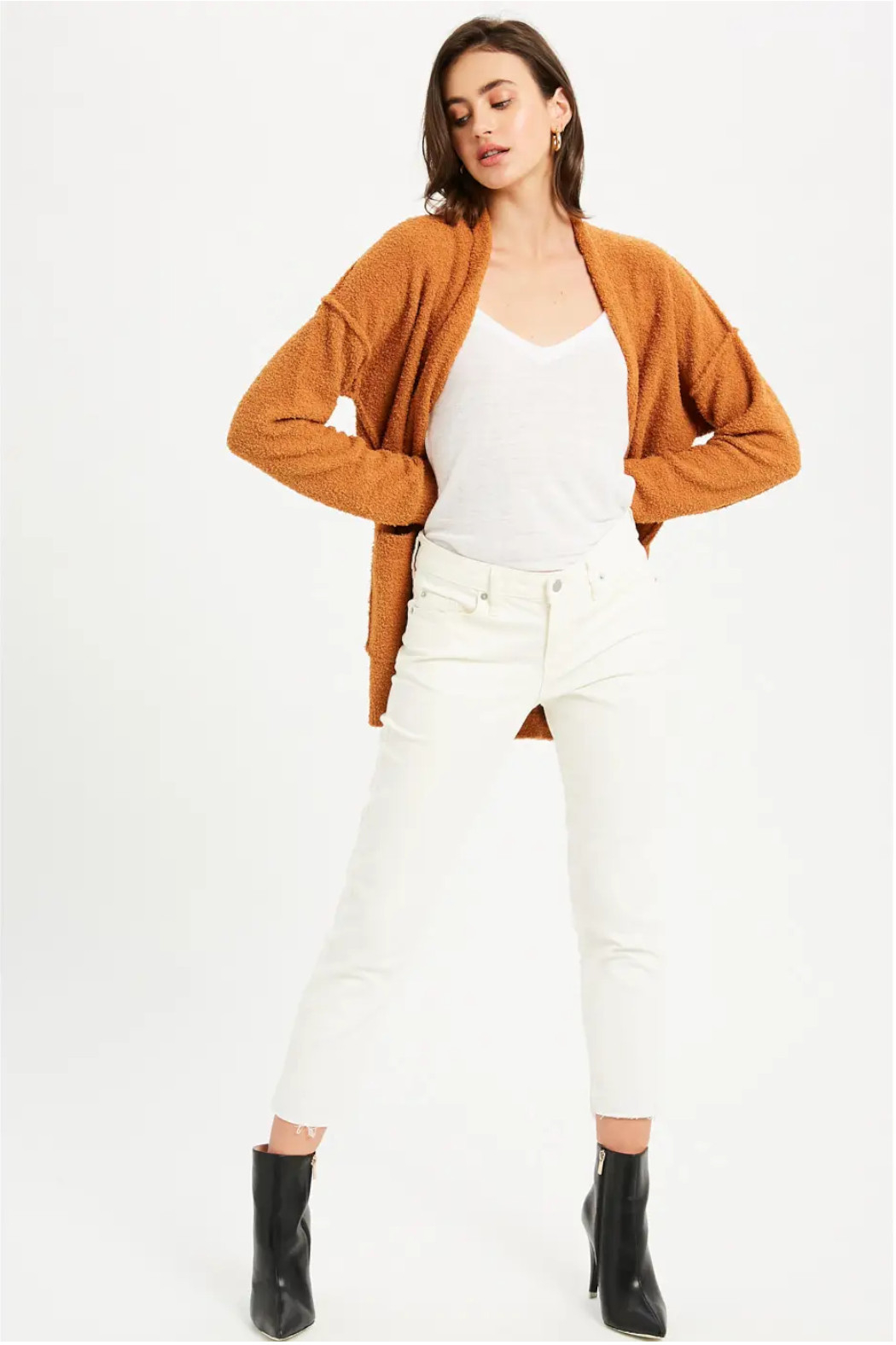 Bluivy Camel Soft Cardigan - Back Cropped Image