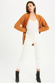 Bluivy Camel Soft Cardigan - Back cropped