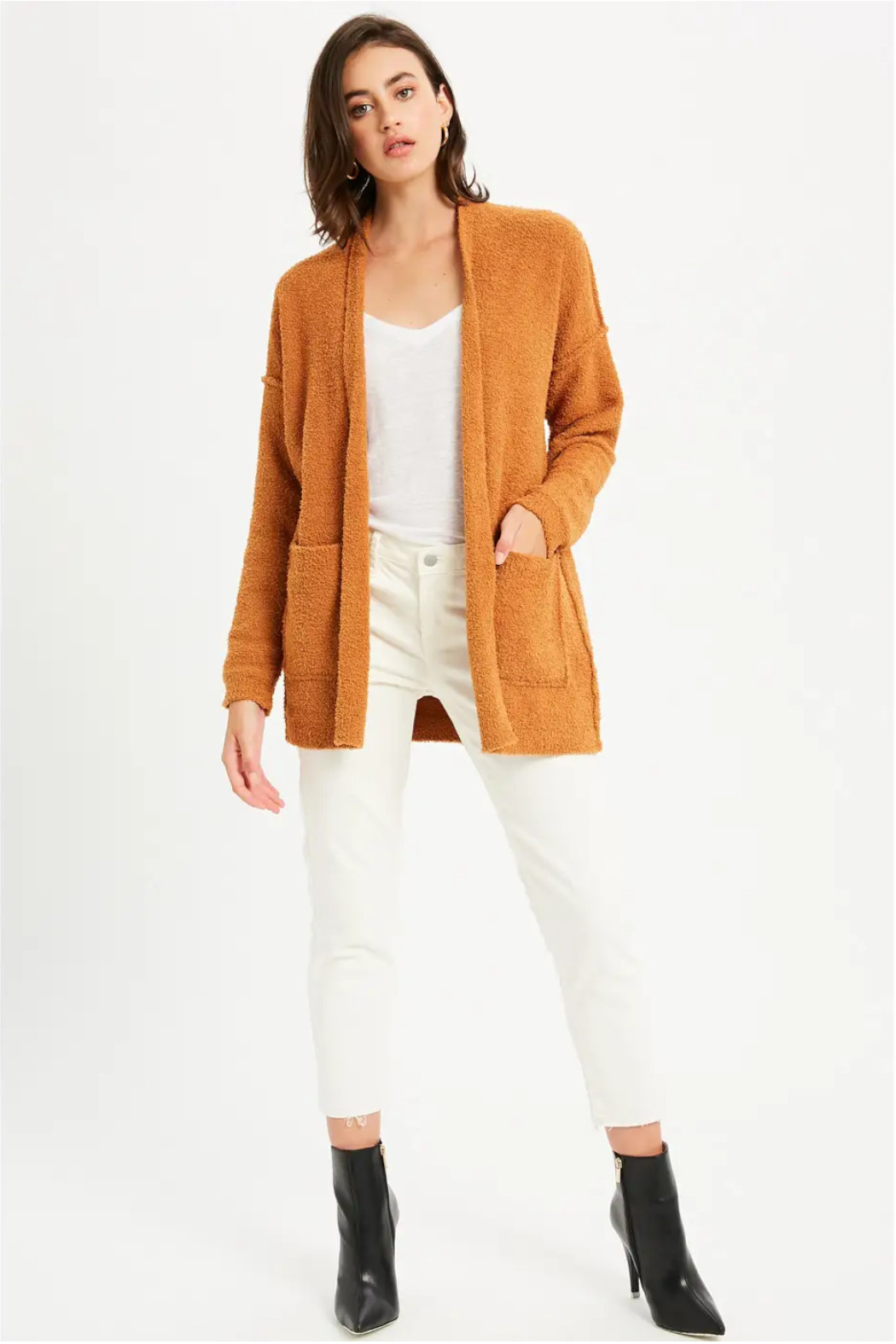 Bluivy Camel Soft Cardigan - Main Image