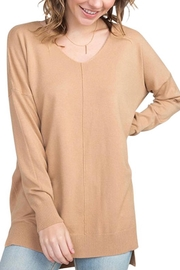 Dreamers Camel Soft Sweater - Front cropped