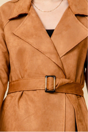 HYFVE Camel Suede Trench Coat - Other
