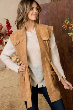 Main Street Boutique Camel Suede Vest - Product List Image