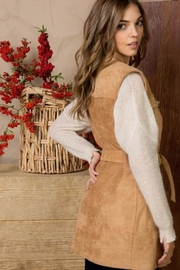 Main Street Boutique Camel Suede Vest - Front full body