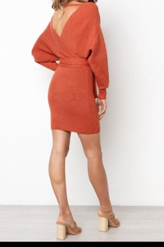 Selfie Leslie Camel Sweater Dress - Alternate List Image