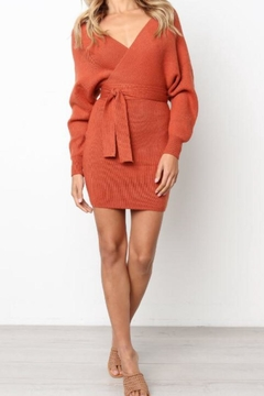 Selfie Leslie Camel Sweater Dress - Product List Image