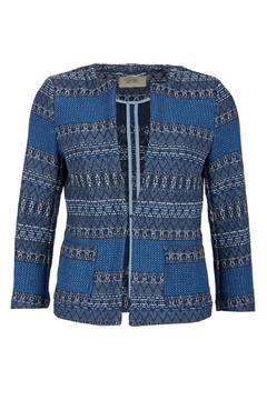 Shoptiques Product: Blue Printed Blazer