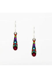Firefly  Camelia Small Drop Earrings - Multicolor/Scarlet - Product Mini Image