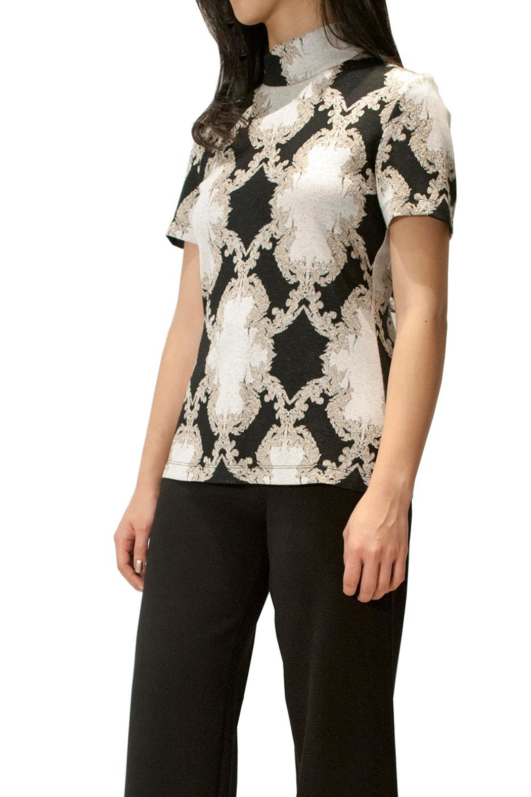 Camelot Embroidered Metallic Top - Main Image