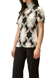 Camelot Embroidered Metallic Top - Front cropped