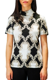 Camelot Embroidered Metallic Top - Front full body