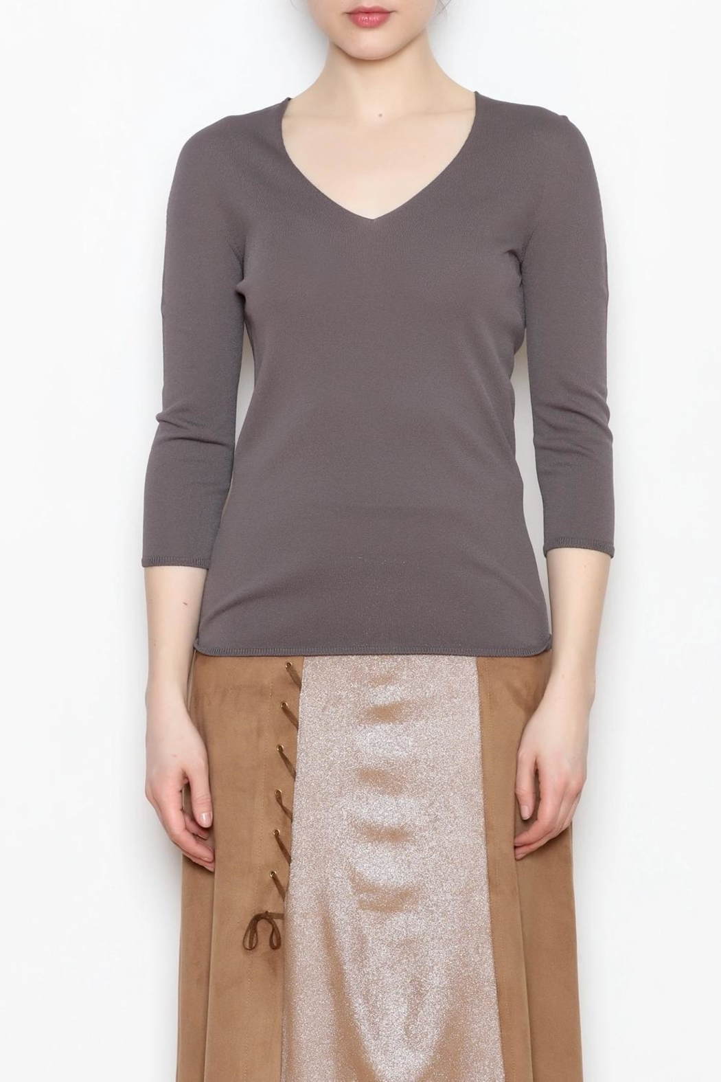 Camelot Metallic Suede Skirt - Front Full Image