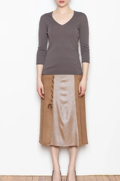 Shoptiques Product: Metallic Suede Skirt