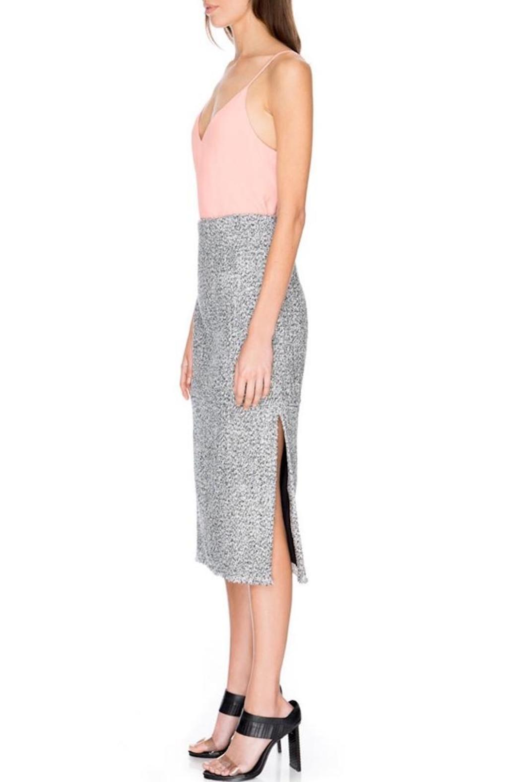 c meo collective metallic pencil skirt from queensland by
