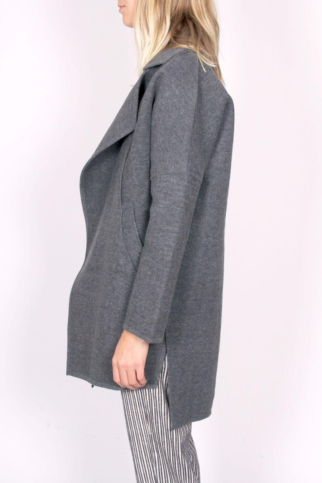 C/MEO COLLECTIVE Wrapped Up Coat - Side Cropped Image