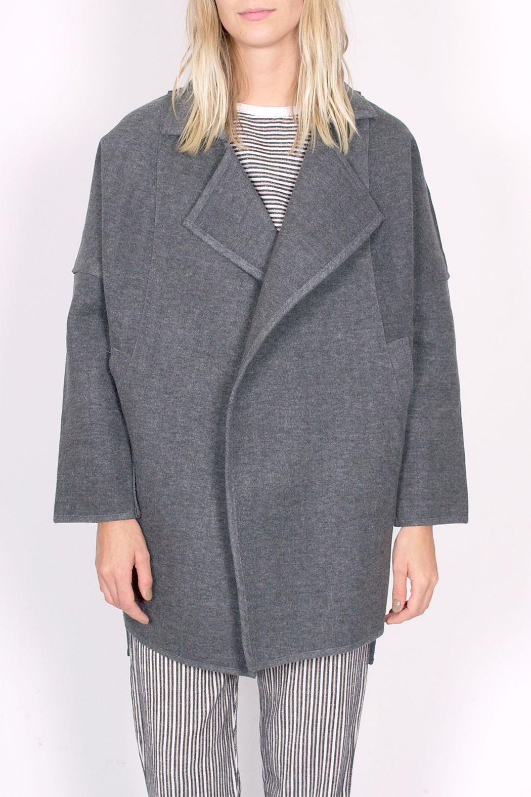 C/MEO COLLECTIVE Wrapped Up Coat - Front Full Image