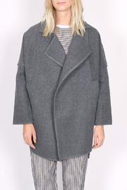 C/MEO COLLECTIVE Wrapped Up Coat - Front full body