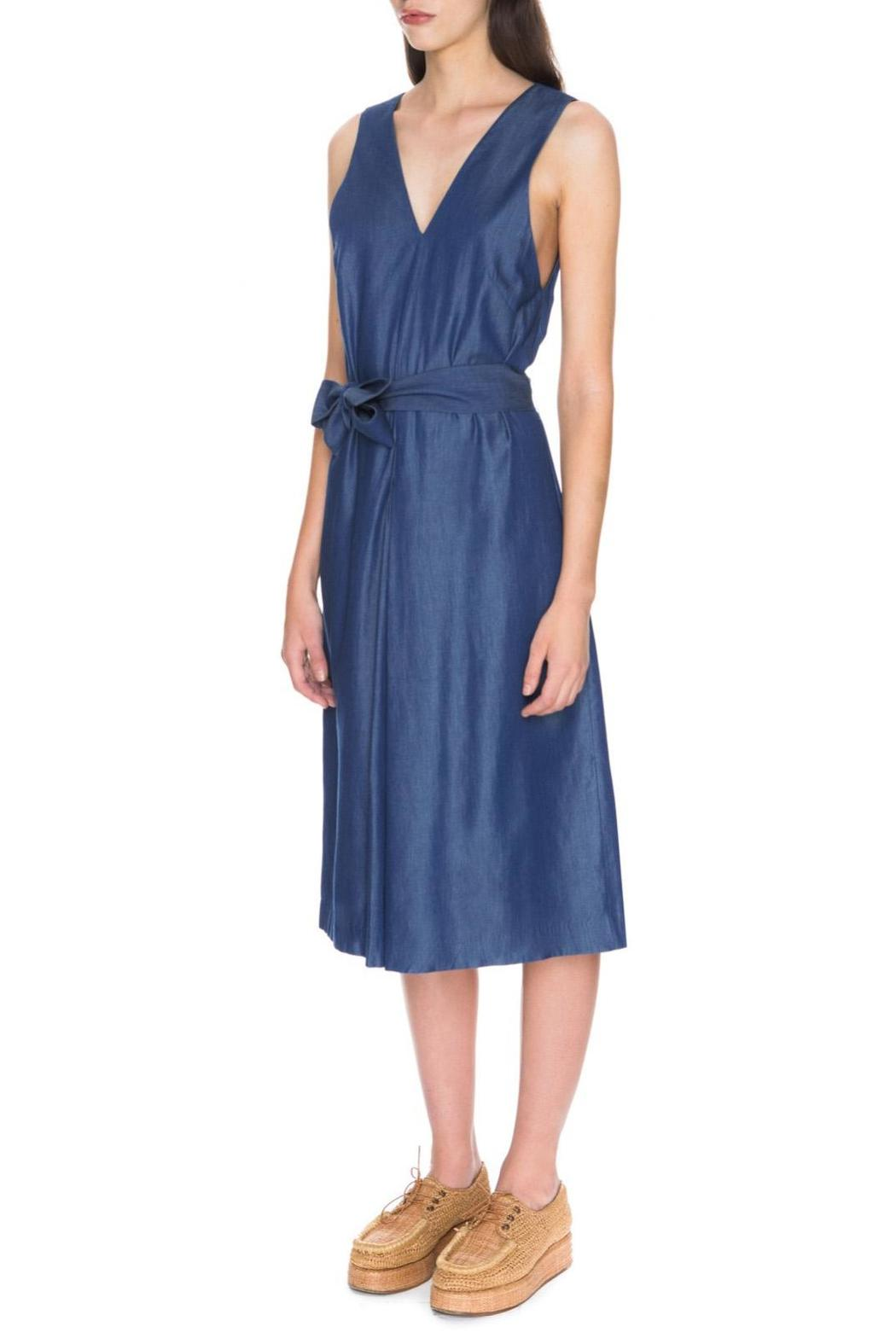C/MEO COLLECTIVE Blue Dream Jumpsuit - Front Full Image
