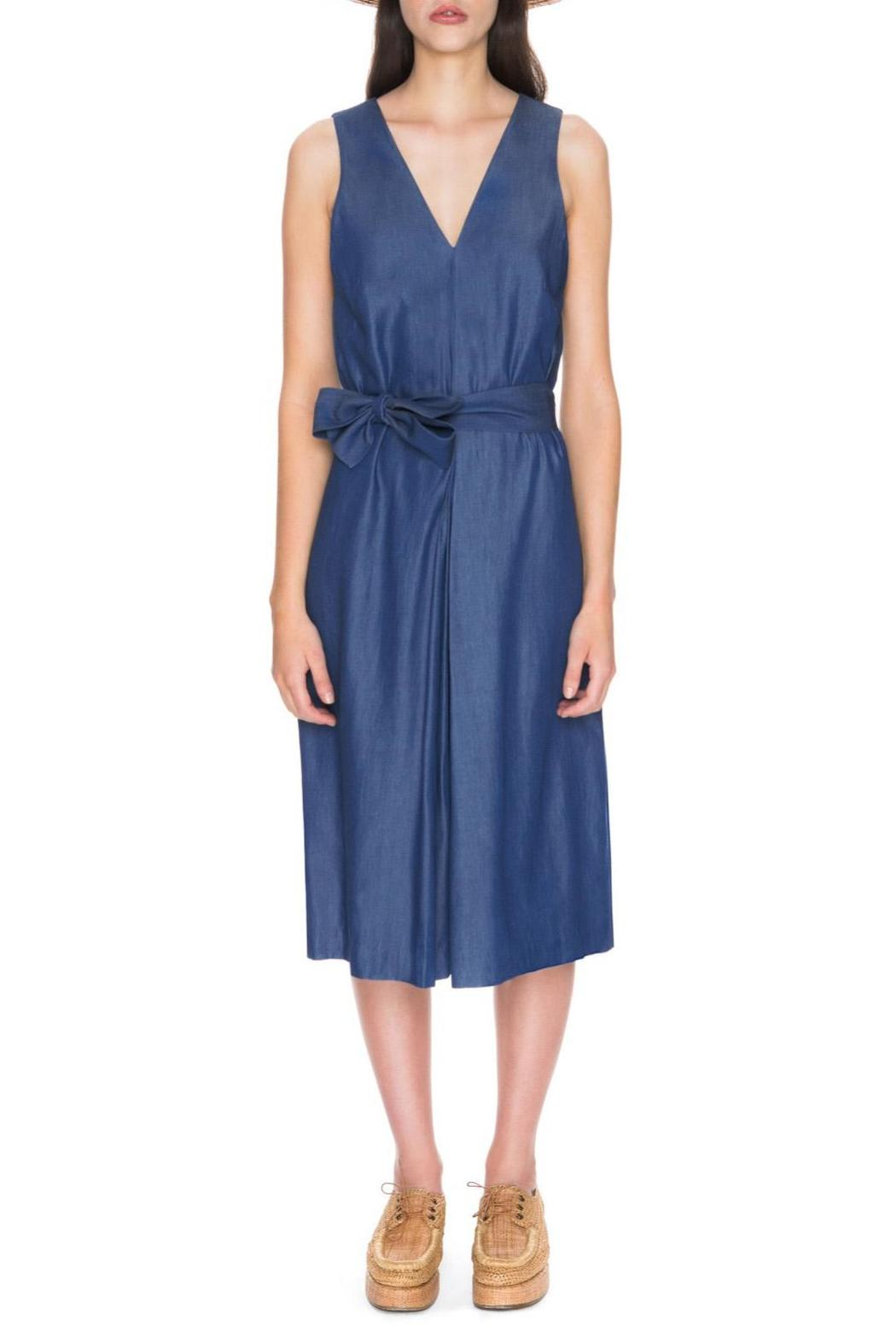 C/MEO COLLECTIVE Blue Dream Jumpsuit - Front Cropped Image