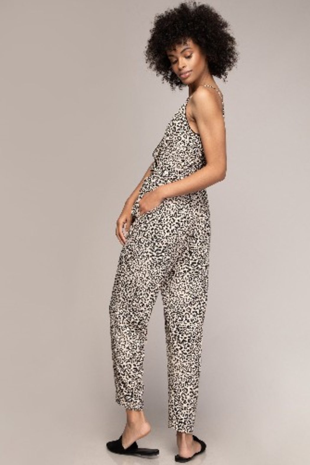 A Beauty by BNB  Cami Animal Print Jumpsuit - Side Cropped Image