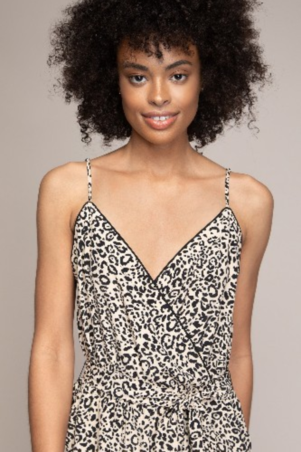 A Beauty by BNB  Cami Animal Print Jumpsuit - Back Cropped Image