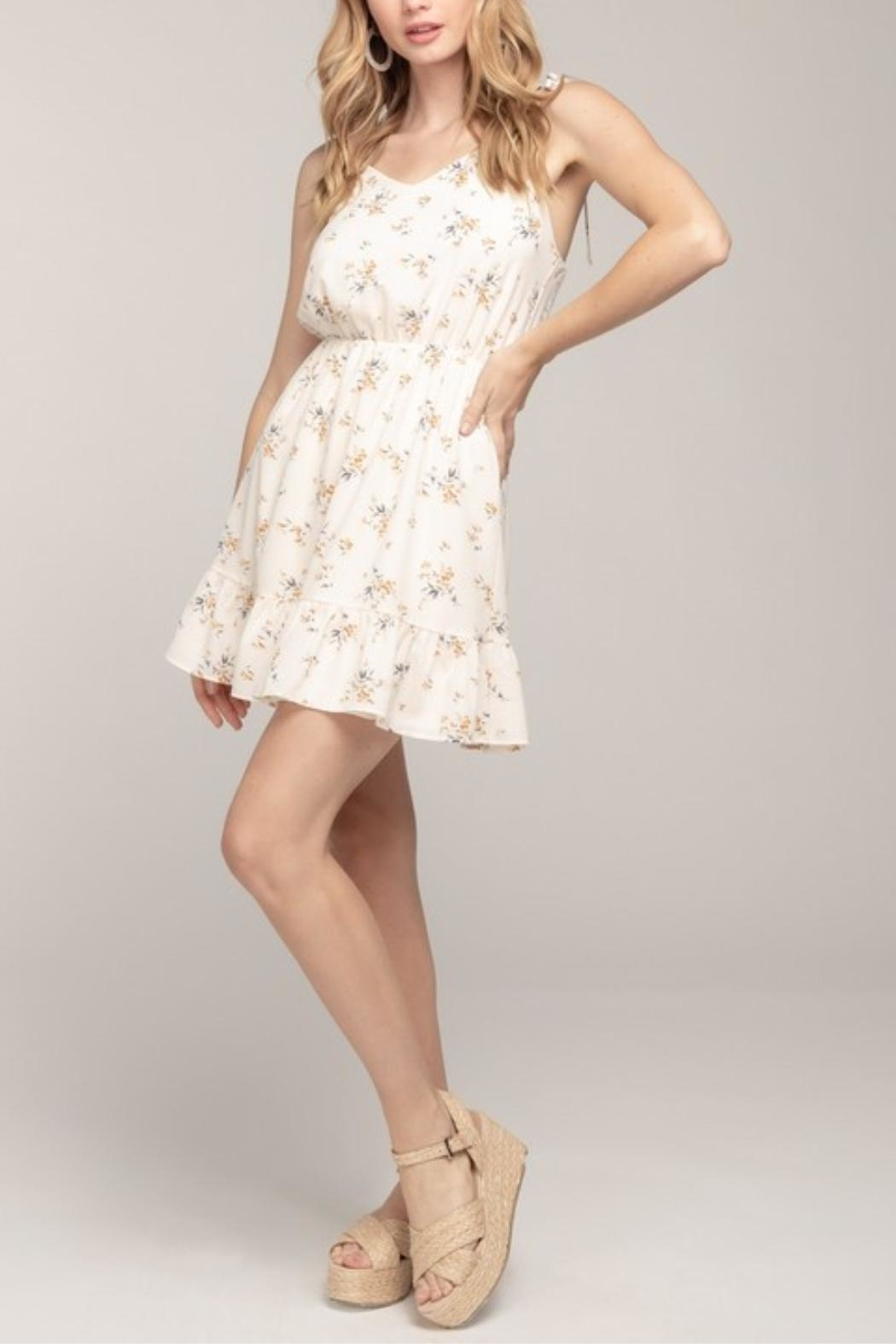 Everly Cami Floral Dress - Side Cropped Image
