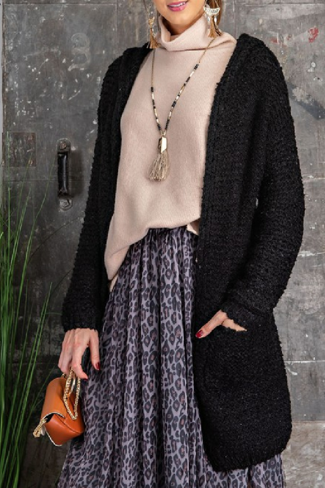 easel  Cami Hooded Cardigan - Main Image