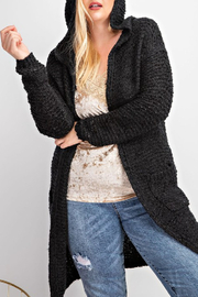 easel  Cami Hooded Cardigan Curvy - Front cropped