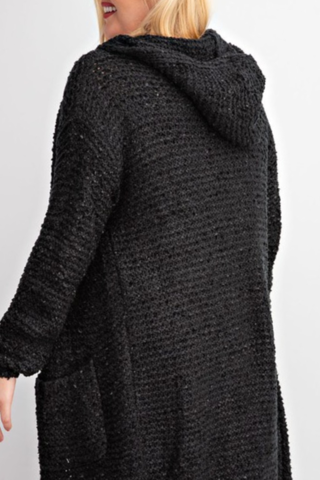 easel  Cami Hooded Cardigan Curvy - Front Full Image
