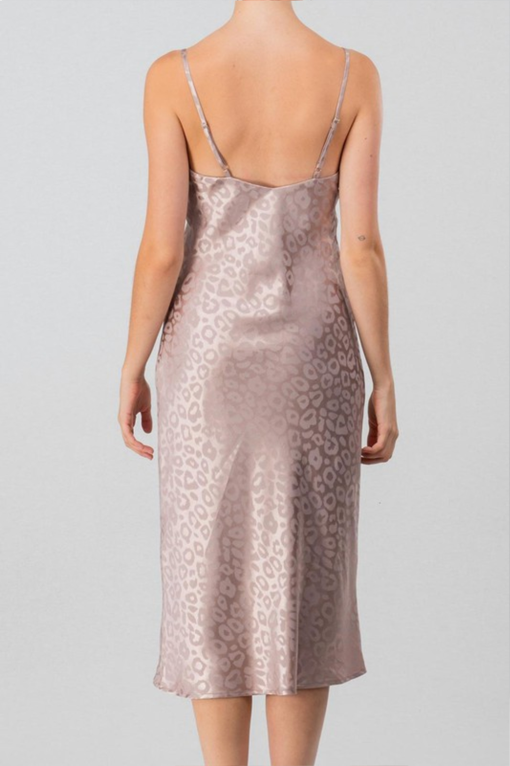 Olivaceous  Cami Midi Dress - Front Full Image