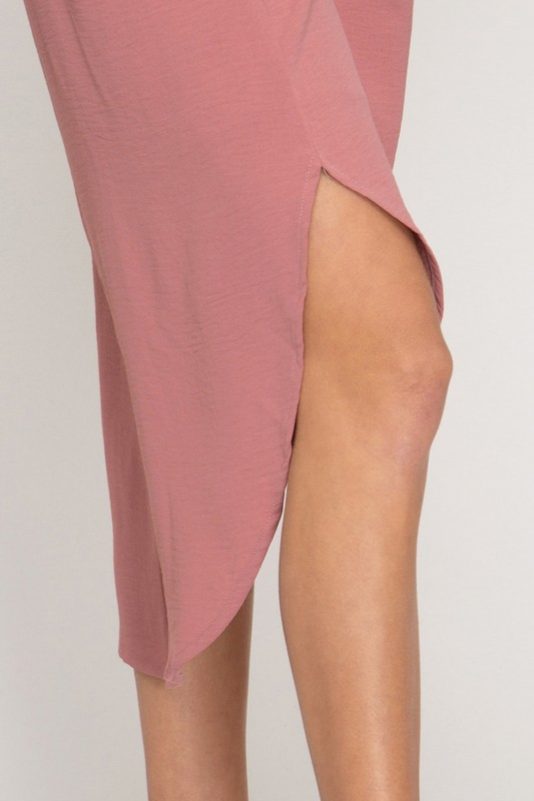 R+D Cami Midi Slip Dress - Back Cropped Image