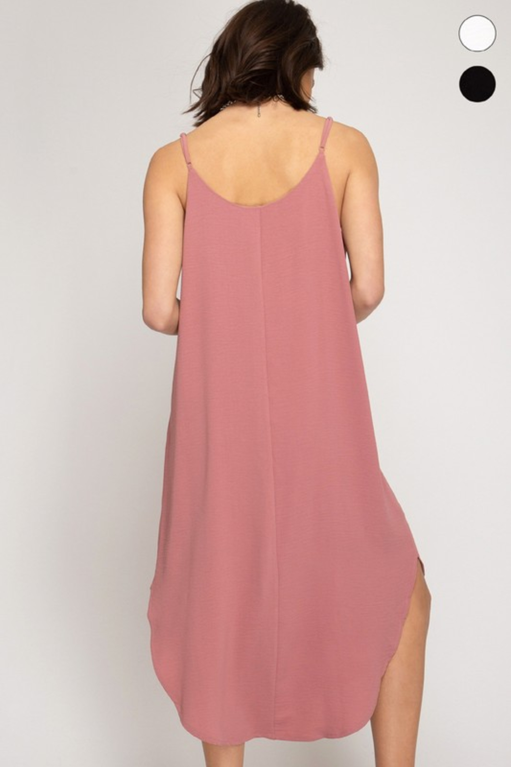 R+D Cami Midi Slip Dress - Side Cropped Image
