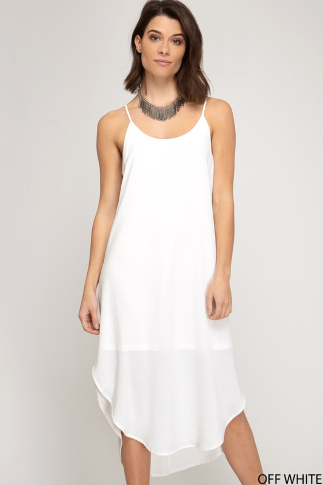 R+D Cami Midi Slip Dress - Main Image