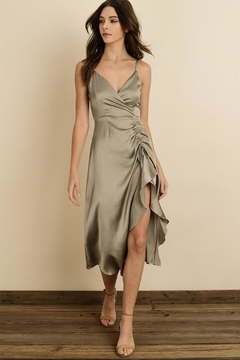 Shoptiques Product: Cami Ruched Midi-Dress