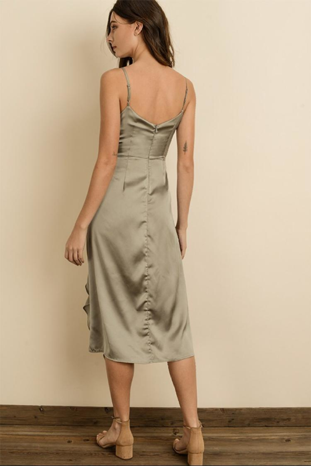 dress forum Cami Ruched Midi-Dress - Front Full Image