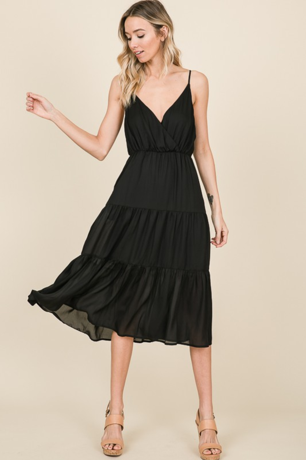 Olivaceous  Cami Ruffle Dress - Main Image