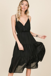 Olivaceous  Cami Ruffle Dress - Back cropped