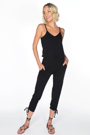 Bobi Los Angeles Cami Shirred Leg Jumpsuit - Product Mini Image