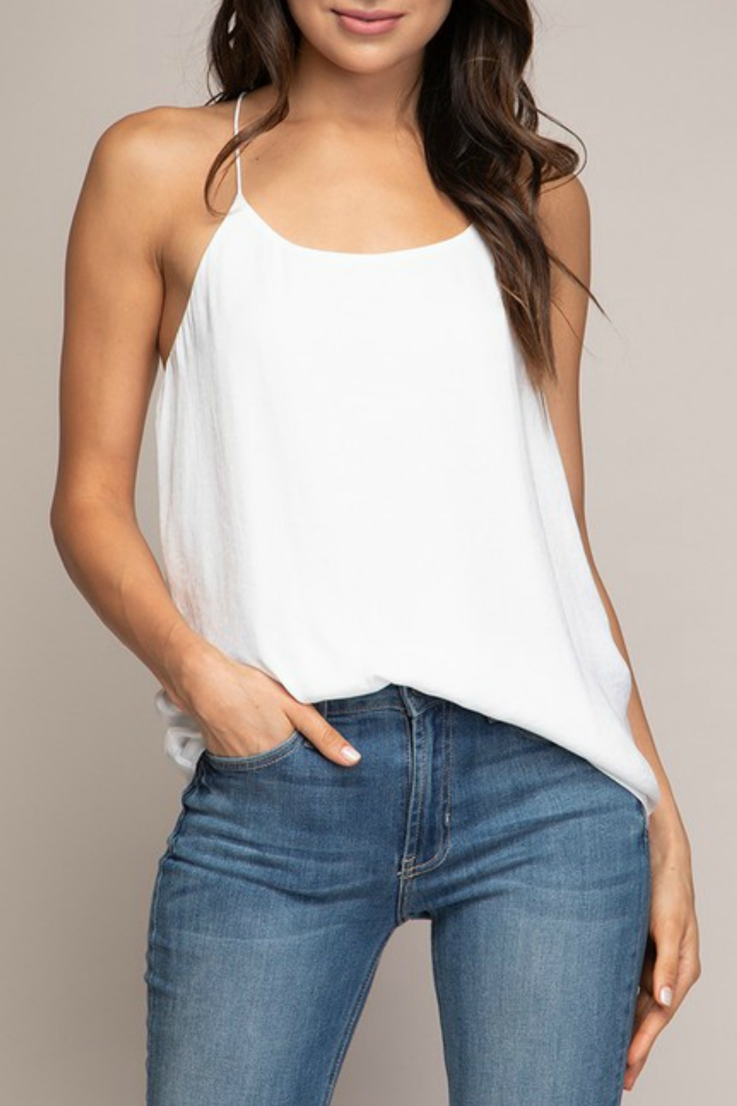 Naked Zebra Cami String Top - Front Cropped Image