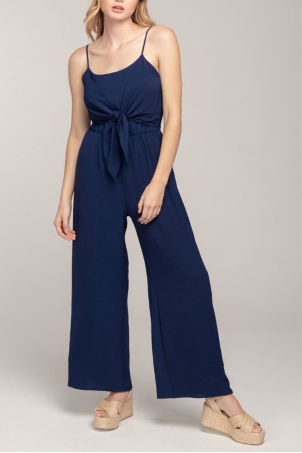 Everly Cami Tie-Front Jumpsuit - Main Image
