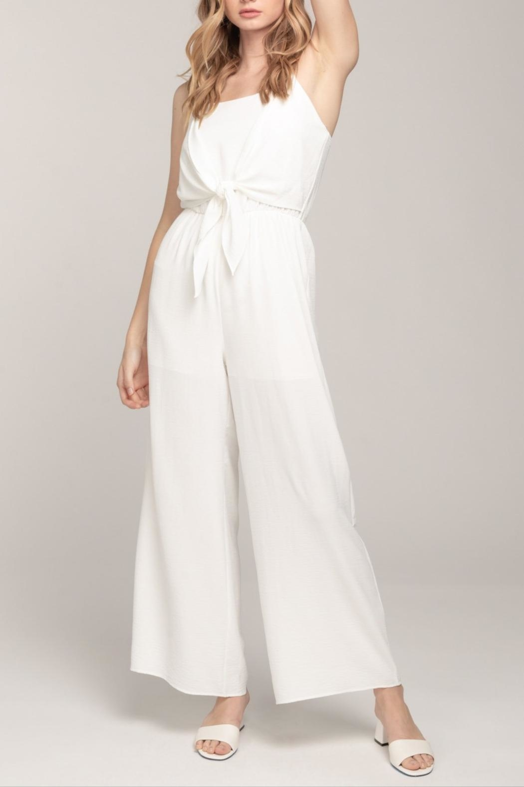 Everly Cami Tie-Front Jumpsuit - Side Cropped Image