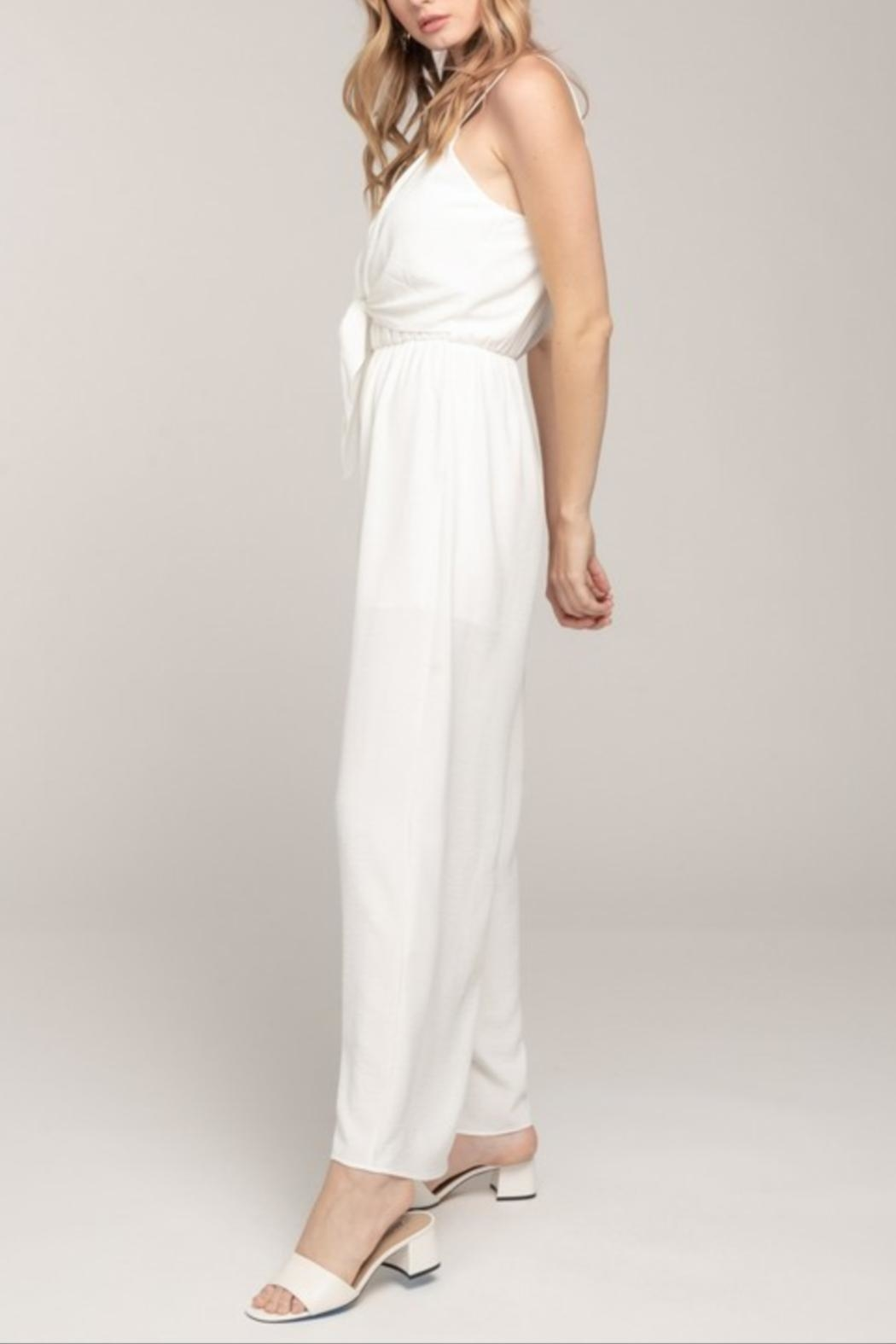 Everly Cami Tie-Front Jumpsuit - Front Full Image