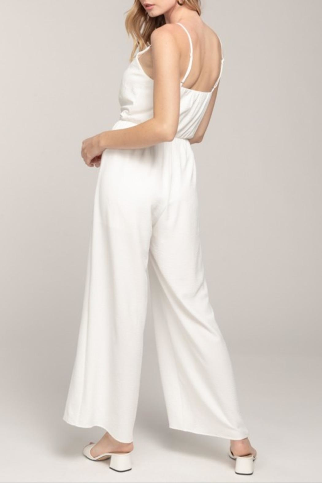 Everly Cami Tie-Front Jumpsuit - Back Cropped Image