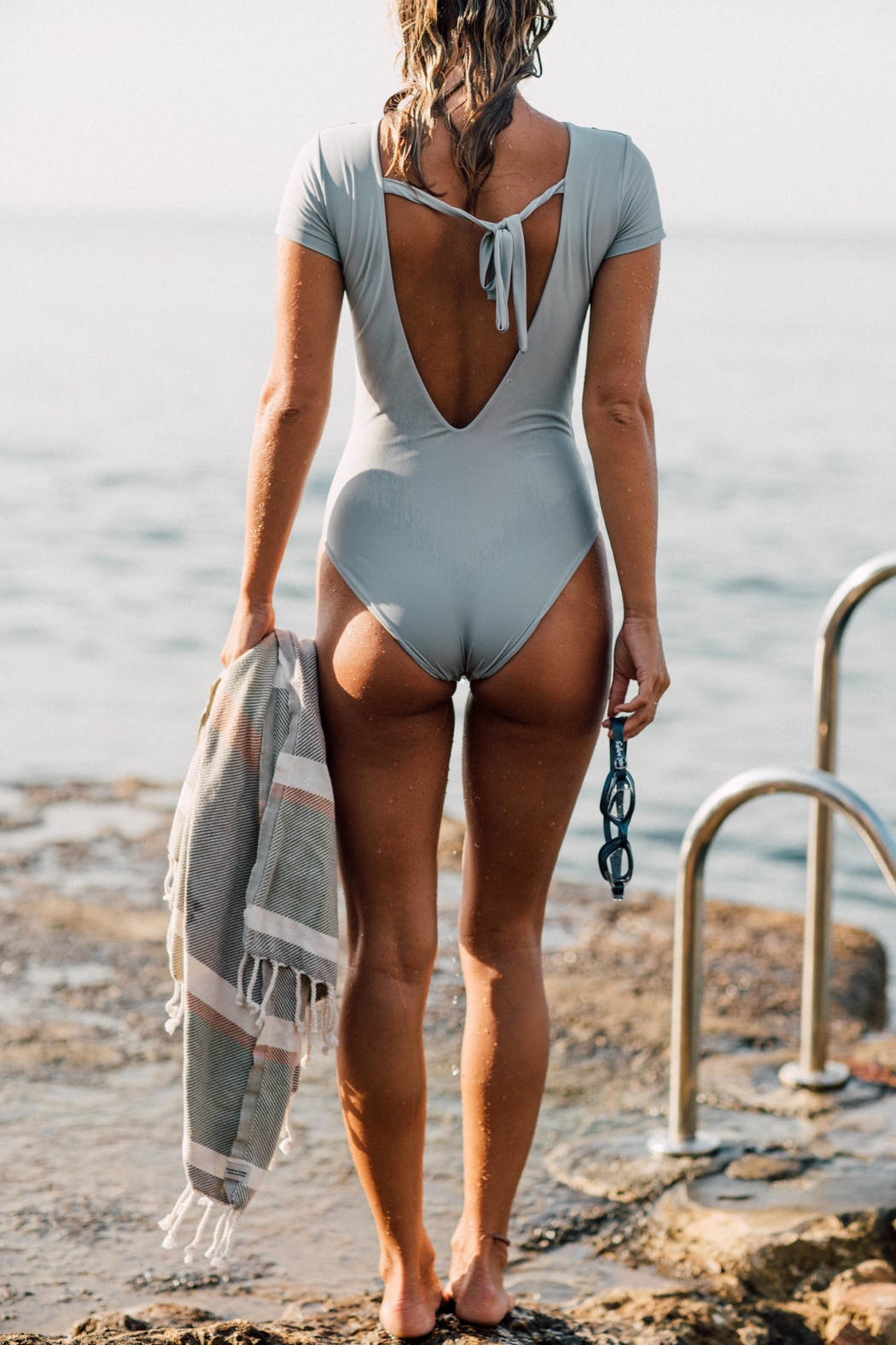 Cami and Jax Victoria One-Piece - Back Cropped Image