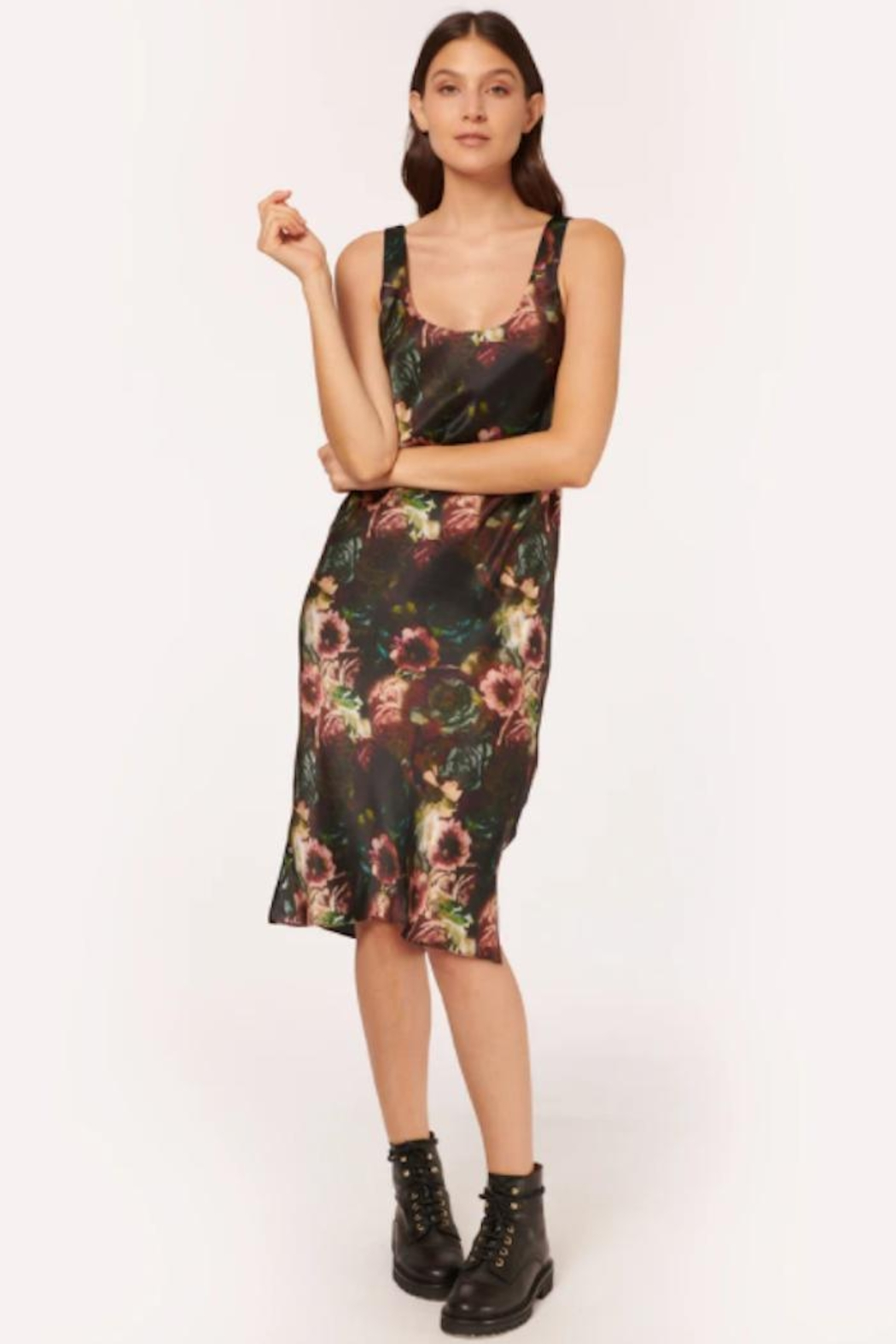 Cami NYC Britt Dress In Painterly Floral - Front Full Image