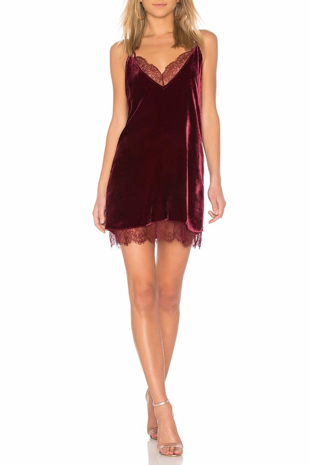 Cami NYC Burgundy Velvet Dress - Main Image