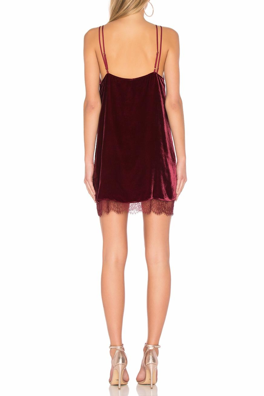 Cami NYC Burgundy Velvet Dress - Side Cropped Image