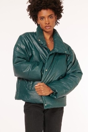 Cami NYC Cecilia Vegan Leather Coat - Front full body