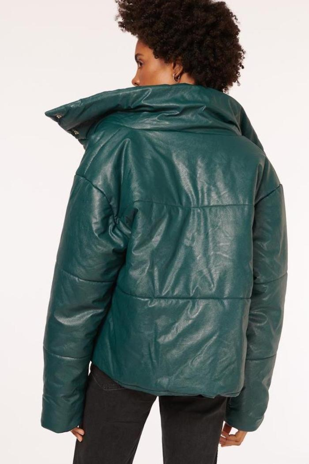 Cami NYC Cecilia Vegan Leather Coat - Side Cropped Image