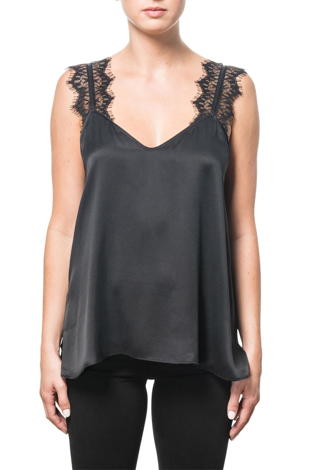 Cami NYC Charmeuse Lace Camisole - Front Cropped Image