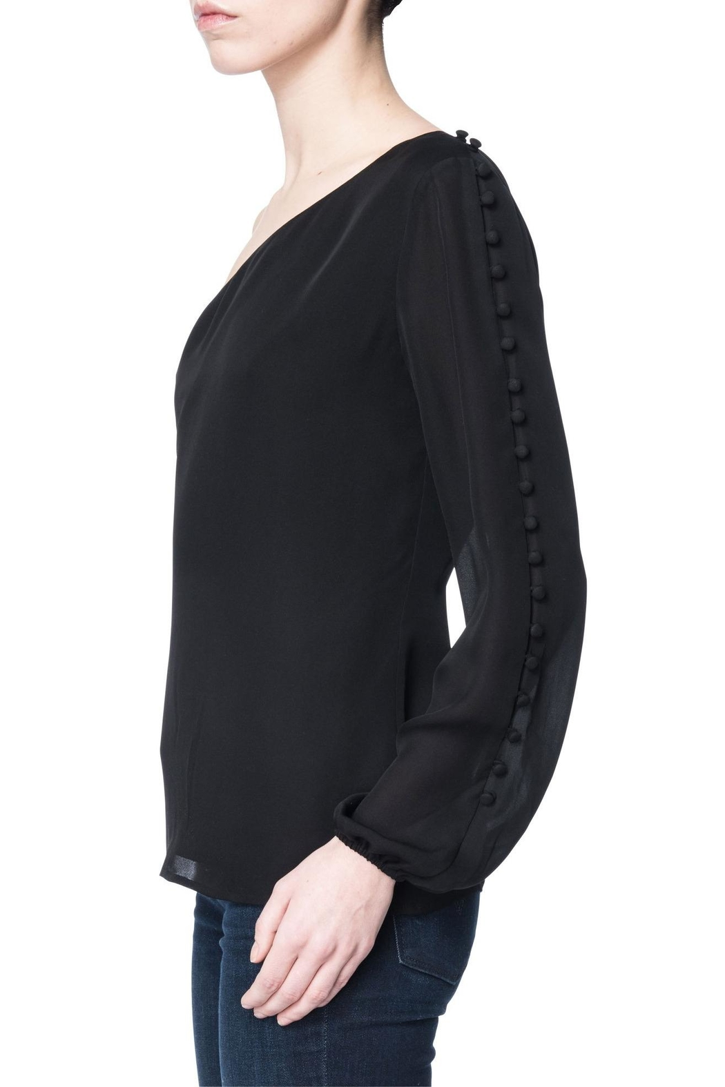 Cami NYC One Shoulder Blouse - Side Cropped Image